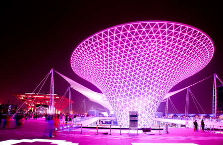 SHANGHAI - JUNE 10: The Expo Boulevard at the largest World Expo on June 10, 2010 in Shanghai China. Stock Photo - 7737363
