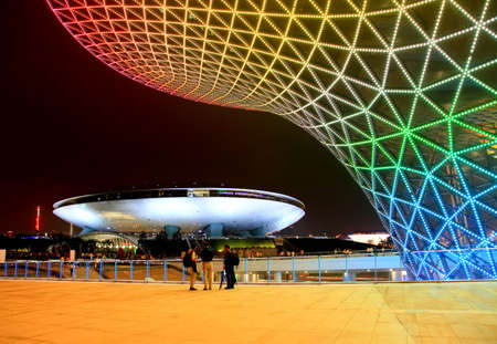 futuristic city: SHANGHAI - JUNE 10: The Expo Boulevard at the largest World Expo on June 10, 2010 in Shanghai China. Editorial