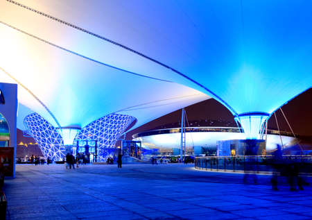 상해 - 6 월 10 일 : 엑스포가에서 가장 큰 세계 박람회 2010 년 6 월 10 일 중국 상하이. 에디토리얼
