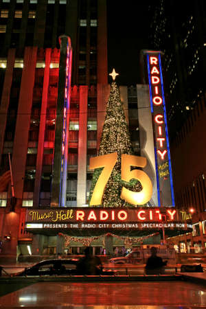The famous Radio City Music Hall in Midtown Manhattan NYC