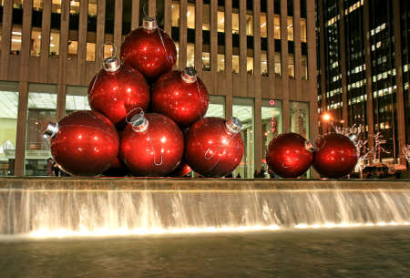 newyear night: The Christmas decorations in Midtown Manhattan NYC Editorial