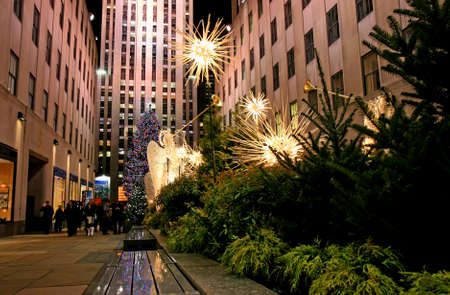 The Christmas decorations in The Rockefeller Center NYC Stock Photo - 7358019