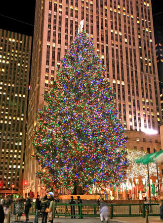 The Christmas decorations in The Rockefeller Center NYC Stock Photo - 7358028
