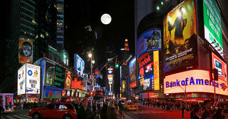 new york city times square: The panorama view of Times Square in New York City Editorial
