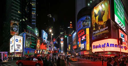 The panorama view of Times Square in New York City 免版税图像 - 7358071