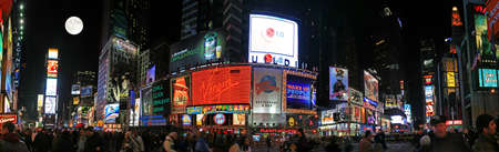 The panorama view of Times Square in New York City 免版税图像 - 7358075