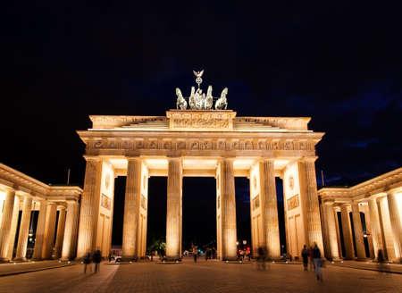BRANDENBURG GATE at night in Berlin Germany