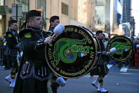 The Saint Patrick Day Parade in New York City