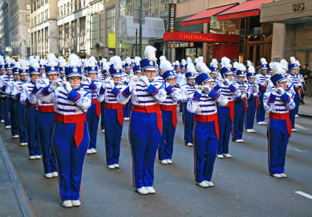 high street: The Saint Patrick Day Parade in New York City