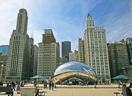 The Cloud Gate in Millennium Park in Chicago Stock Photo - 7358189