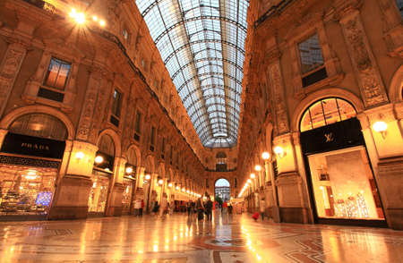 The famous Gelleria Vittorio Emanuele II in central Milan