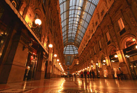 lattice window: The famous Gelleria Vittorio Emanuele II in central Milan
