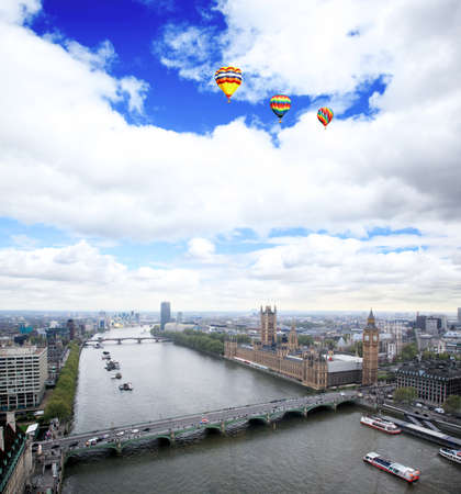 Aerial view of city of London from the London Eye Stock Photo - 7398575