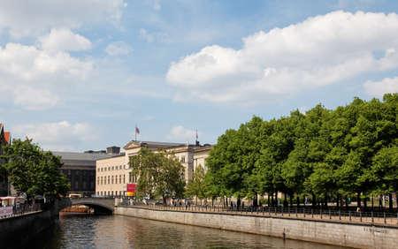 The Spree Canal scenery in Berlin Germany
