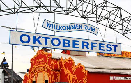 munich: Munich - Sept 1, 2008: the Oktoberfest is setting up the grand opening