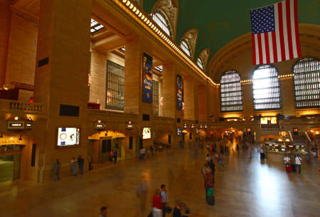 The Grand Central Station at Mid-town Manhattan - a wide angle view Stock Photo - 7374406