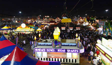 New Jersey State Fair at Meadowland Sports Complex- largest carnival in the state on June 26-July 4, 2008 Stock Photo - 7374419