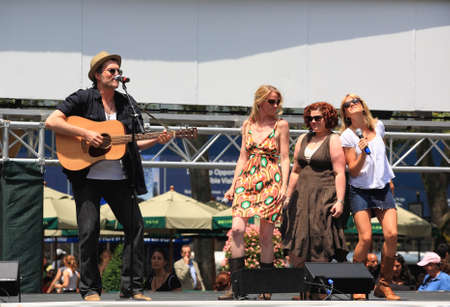 NEW YORK - JULY 17: Jeb Brown, Lauren Kennedy, and others Performed in the Pure Country - The Broadway at Bryant Park in NYC - a free public event on July 17, 2008