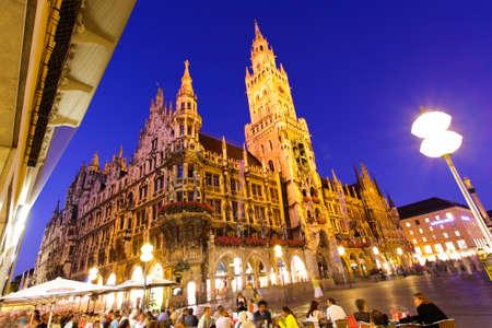 The town hall in the Marienplatz in Munich City Center