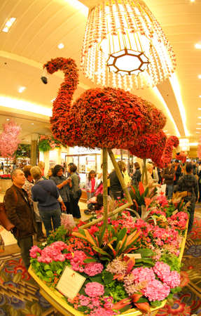 macys: New York City, aprile 17,2009: il famoso Macy Flower Show nel department store a Herald Square a midtown Manhattan.