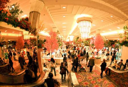 New York City, April 17,2009: Flower Show De beroemde Macy's in het warenhuis aan de Herald Square in midtown Manhattan.