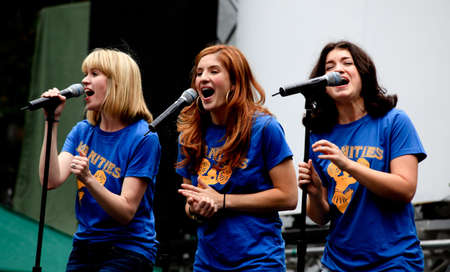 Manhattan - July 23, 2009: The cast of Vanities performed at Broadway in Bryant Park, a free public summer event in NYC. Stock Photo - 7405689