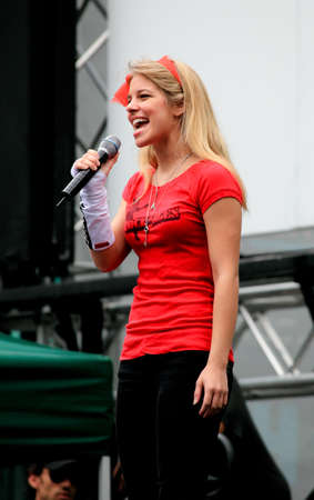Manhattan - July 23, 2009: The cast of Rock of Ages performed at Broadway in Bryant Park, a free public summer event in NYC. Stock Photo - 7405694