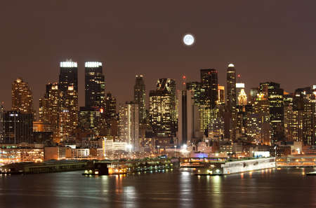 The Mid-town Manhattan Skyline in New York City photo