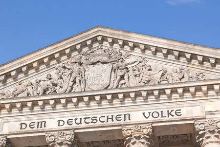 The Reichstag building in Berlin City Germany photo