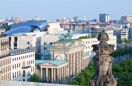 brandenburg: The BRANDENBURG GATE in Berlin Germany Stock Photo