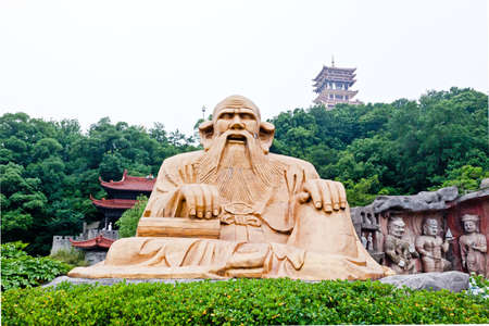 dai: yuan-tou-chu dai lake park in Wuxi city China Stock Photo