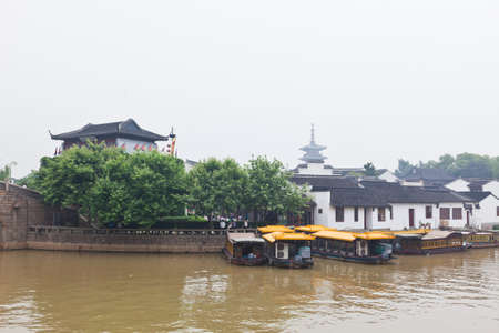 famous feng-qiao scenery area in water town Suzhou China  Imagens