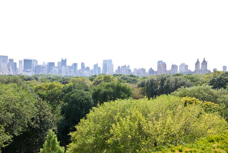 Manhattan skyline and the Central Park in New York City USA