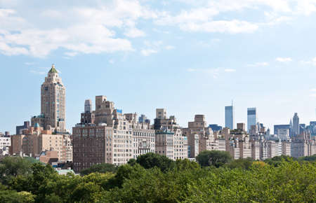 Manhattan skyline and the Central Park in New York City USA Stock Photo - 7537414