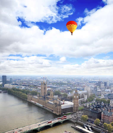 Aerial view of city of London from the London Eye photo