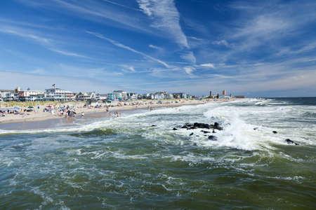 The beach in Ocean Grove - a small beach town New Jersey