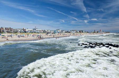Het strand in Ocean Grove - een klein strandstadje in New Jersey