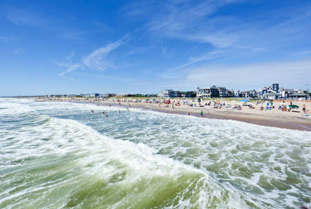 The beach in Ocean Grove - a small beach town New Jersey