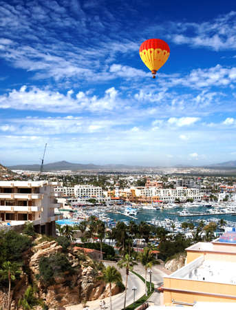 Marina and downtown Cabo San Lucas, Mexico