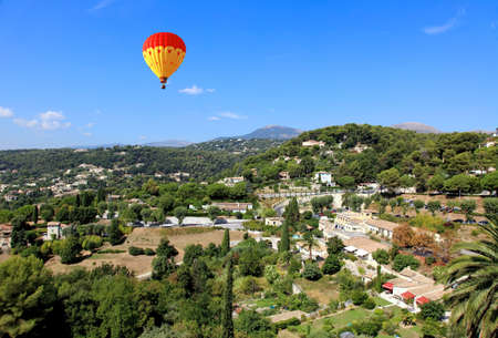 vence: aerial view from the village of Saint-Paul de Vence, Southern France