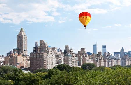 Skyline van Manhattan en het Central Park in New York City, USA