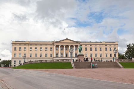 royals: Slottet Royal Palace in central Oslo, Norway  Stock Photo