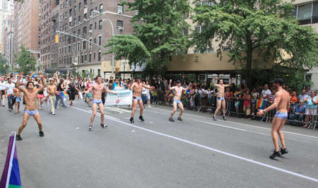 NEW YORK CITY - JUNE 27: NYC LGBT Gay Pride March on June 27, 2010 in New York City, USA
