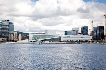 oslo: The operahouse in the harbor of Oslo Norway Stock Photo