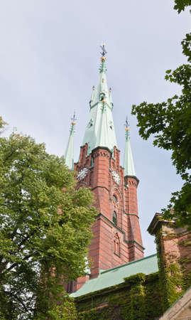 The Clara Kyrka church in central Stockholm Sweden