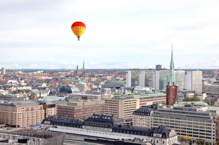 Aerial view of the Stockholm City Sweden form top of City Hall tower photo