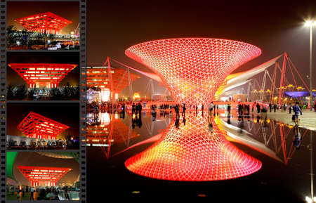 SHANGHAI - JUNE 10: The Axis of the Expo at the largest World Expo on June 10, 2010 in Shanghai China. Stock Photo - 7996702