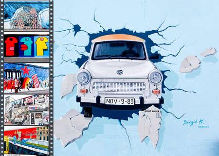 BERLIN - Mai 29: The East Side Gallery - die größte outdoor Kunstgalerie in der Welt auf ein Segment der Berliner Mauer 29 Mai 2010 in Berlin. Standard-Bild - 8010319