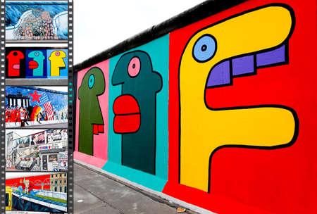 BERLIN - 29. Mai: The East Side Gallery - die größte outdoor Kunstgalerie in der Welt auf ein Segment der Berliner Mauer Mai 29, 2010 in Berlin. Standard-Bild - 8038397