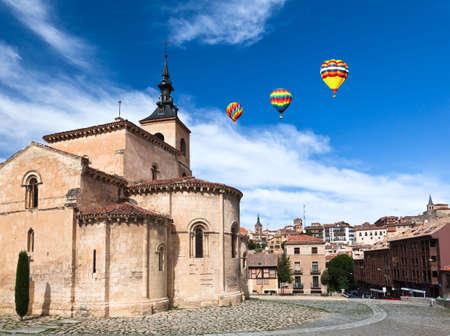 an ancient church in Segovia, World Heritage city, Spain photo